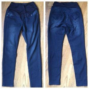 Oh! Mamma Denim - OH! MAMMA Maternity Skinny Blue Jeans