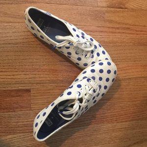 Kate spade Keds navy polka dot shoes