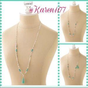 karen1177 Jewelry - New Boho Blue Delicate Tassel Layer Necklace✨