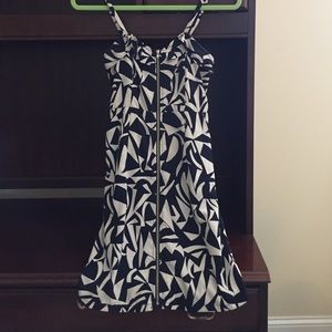 Dresses & Skirts - Navy Blue and Cream colored front zip dress