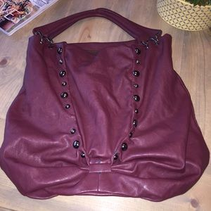 shoedazzle  Handbags - Burgundy hobo shoulder bag