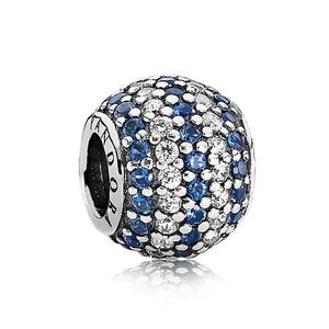 Pandora Nautical Pavé Lights Charm - Blue Bead