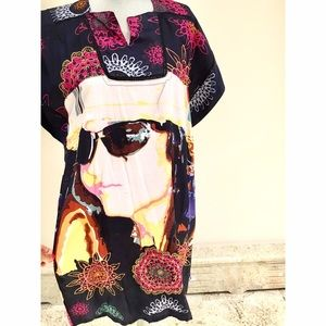 DESIGUAL Caftan Style Printed Dress!