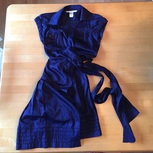 Navy Diane vonFurstenberg wrap dress