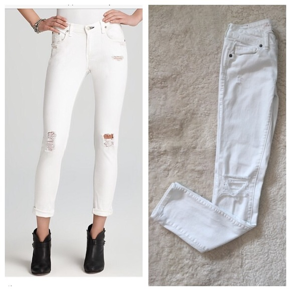 466c7d57b6cd American Eagle Outfitters Denim - American Eagle White Ripped Jeans