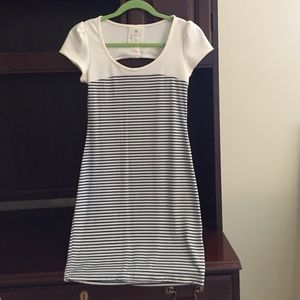 Dresses & Skirts - Navy and cream stripped dress