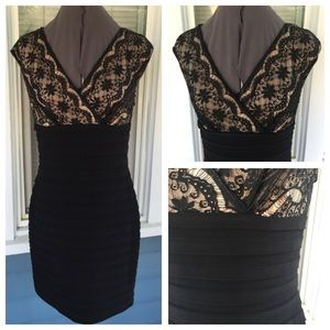 Adrianna Papell Dresses & Skirts - 💃ADRIANNA PAPELL Black Lace Layered Dress