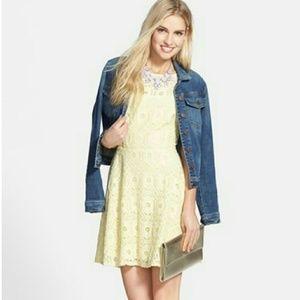 BB Dakota Fit and Flare Yellow Dress!
