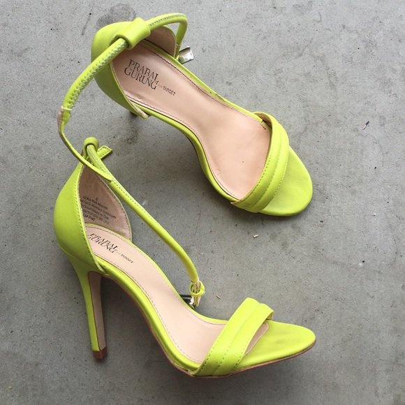 37af297e0 ... Lime Green Heeled Sandals. M 57ec27a4b4188e1f0c01612d
