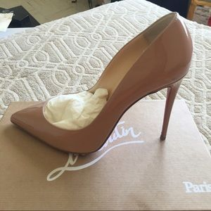 CHRISTIAN LOUBOUTIN  40.5  Pigalle Follies NUDE