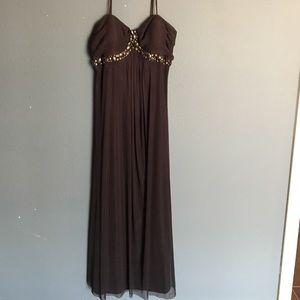 JS Boutique Dresses & Skirts - JS Boutique beautiful grey full length dress so 12