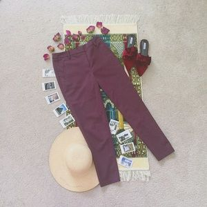 Thrifted Pants - • Eggplant Plum Wine Colored Career Trousers •