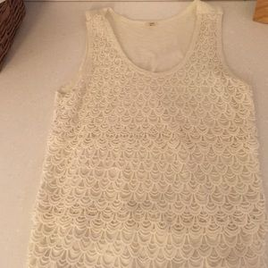 J crew lace front tank