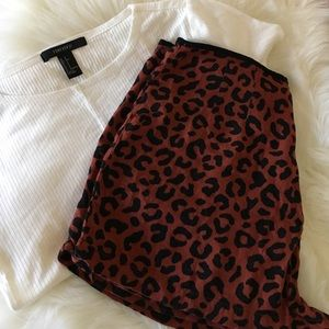Forever 21 leopard high waisted shorts