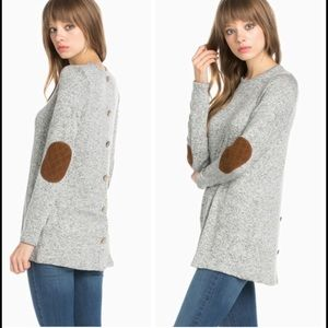 •elbow patch sweater•