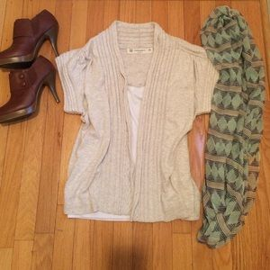 Zara Knit SOFT Beige Cable Sweater