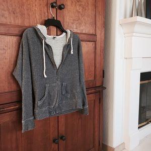 Forever 21 Jackets & Blazers - Grey Zip