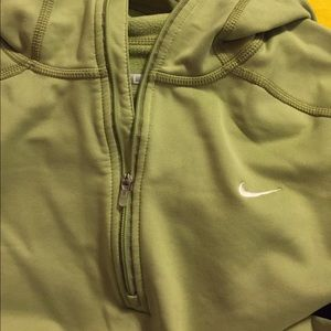 Lime green fitted Nike 1/4 zip up