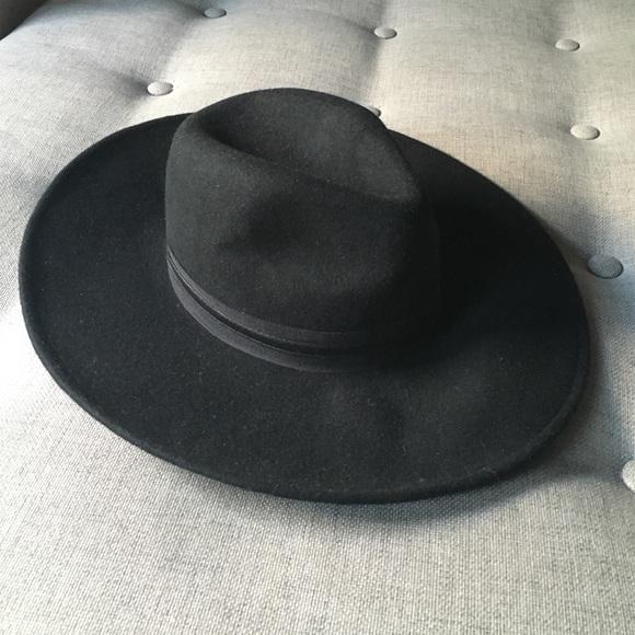 6b958689b2491  NWT  Western Black Cowboy Hat Flat Brim