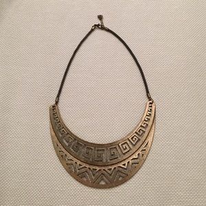 Gold statement necklace tribal style