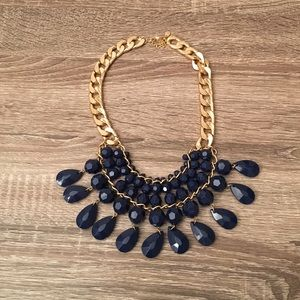 Jewelry - Blue and gold statement necklace