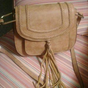 Leather Saddle Bag by Franco Sarto