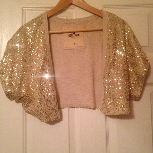 80% off Hollister Sweaters - NWT Hollister Sequin Shrug Sweater ...