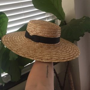 Lack of Color Accessories - NWT Lack of Color wide brim Spencer boater hat
