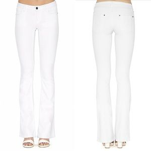Alice + Olivia Denim - Alice + Olivia Flared White Jeans