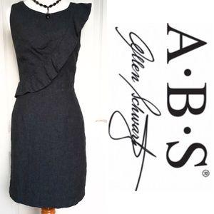 ABS Allen Schwartz Dresses & Skirts - A.B.S. Allen Schwartz Gray Ruffle Shift Dress 4