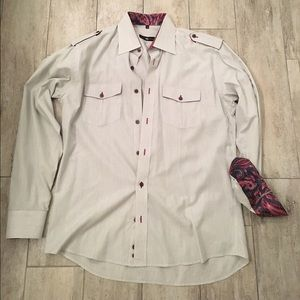 Stone Rose Other - Stone Rose men's grey button down shirt