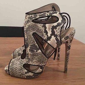 Kurt Geiger python high heels