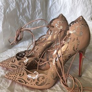 Christian Louboutin Shoes - Christian louboutin impera nude patent leather 36