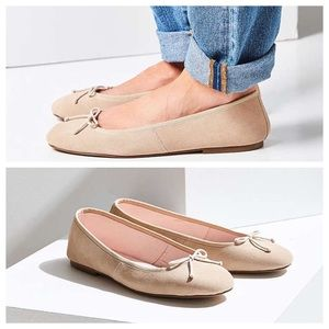 Urban Outfitters Shoes - NWT UO Suede Ballet Flats Taupe/Nude (Faux)