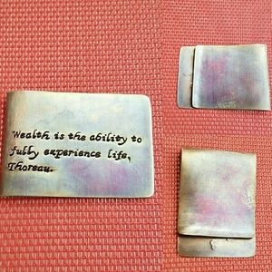 Other - Personalized Copper Antique Money Clip