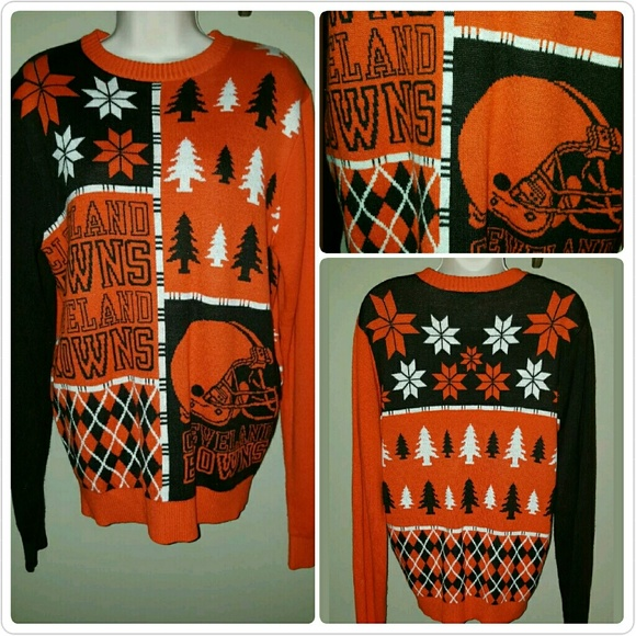 67% off klew Sweaters - Cleveland Browns Ugly Christmas Sweater ...