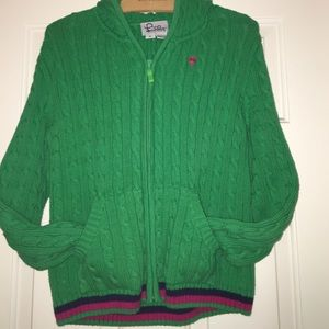Lilly Pulitzer cardigan zip sweater with hood
