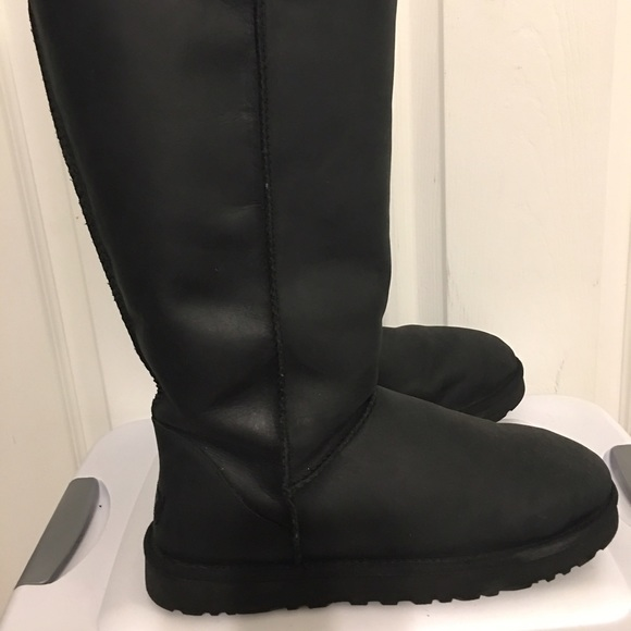 Ugg Shoes All Leather Waterproof Tall Classic Boot Sz 11