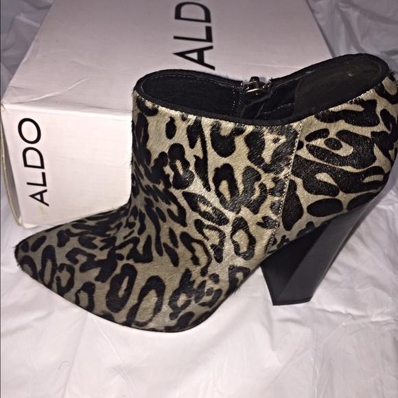 aldo leopard booties