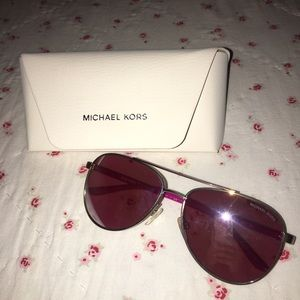 Michael Kors Accessories - Michael Kors Pink and Silver Flash Shades