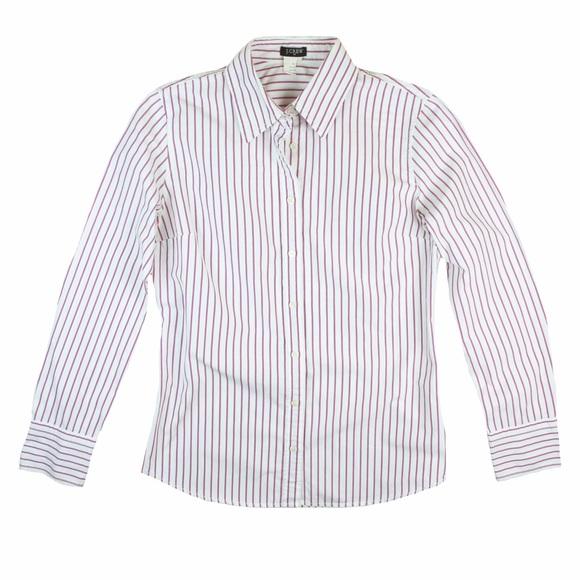 0a455e4f6 J. Crew Tops   Jcrew Pink White Stripe Button Down Shirt   Poshmark