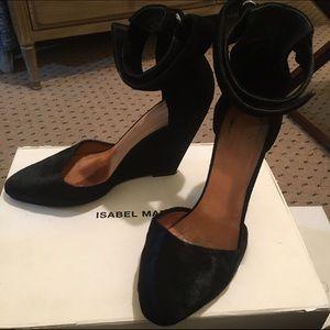 Isabel Marant Shoes - Isabel Marant Shane Pony hair and Suede Wedges