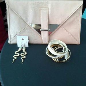 Rose Gold Envelope Clutch