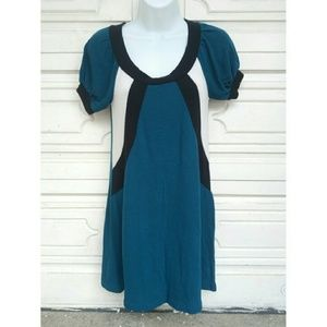 Tampa Dresses & Skirts - Tampa dark teal, black and white sweater dress