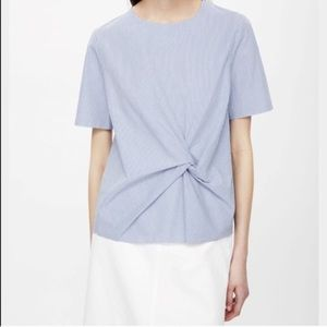 COS blue white stripe shirt