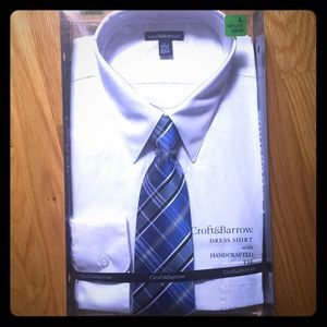 💃🏻4 for$15💃🏻New Croft & Barrow Shirt & Tie Set