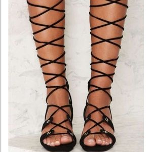 Jeffrey Campbell Bryndis  Suede Gladiator Sandals
