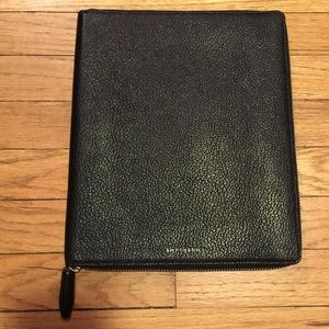 Smythson Accessories - Smythson black leather iPad case