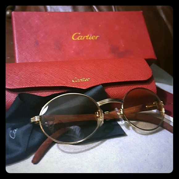 Cartier Accessories | 100 Authentic 14k Gold Wood Frames | Poshmark