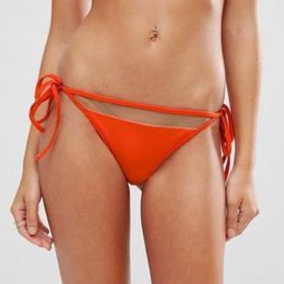 7b71155fc5 Asos Mix   Match Mesh Insert Tie Side Bikini Thong